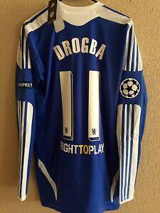 Chelsea Drogba Shirt Sz 6 Adidas Techfit uefa champions league ... 1ecef854d