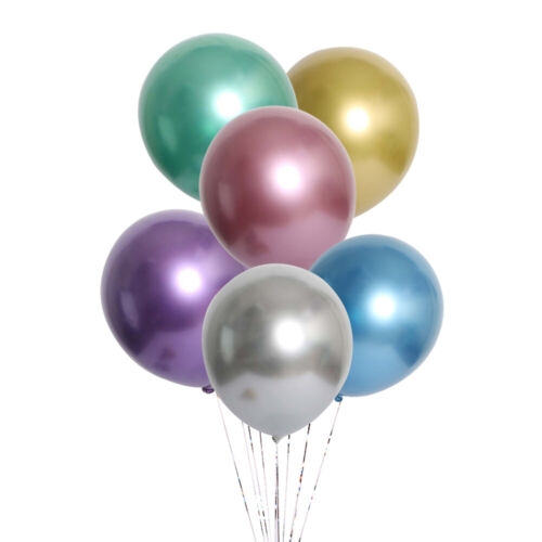 Buy 100PCs Get 150PCs 12inch Thickened Metallic Latex Balloons Party Decor