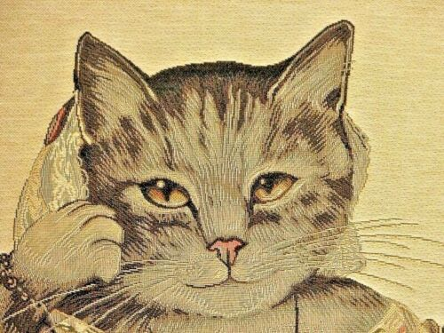 """Nouveau 18/"""" Aristochats Lady Ann Belge Tapisserie Housse de Coussin avec fermeture à glissière 4945"""