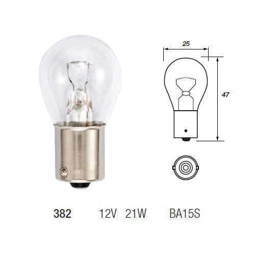 1000 x 382 P21W BA15S Brake Stop Indicator Reverse Fog Light Car Bulb 12v 21w