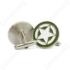 WW2 US Military Star Cufflinks - New American USA Army Jeep Vehicle 1943 Soldier
