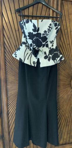 Wayne Clark Size 8 Evening Gown Peplum Strapless B