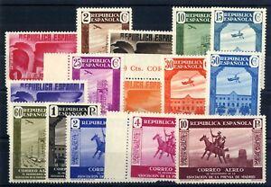 Sellos-de-Espana-1936-n-711-725-XL-Aniversario-Asociacion-Prensa-sellos-nuevos