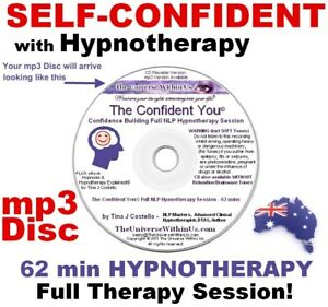 SELF CONFIDENCE CLINICAL HYPNOTHERAPY mp3 Disc CONFIDENT ...