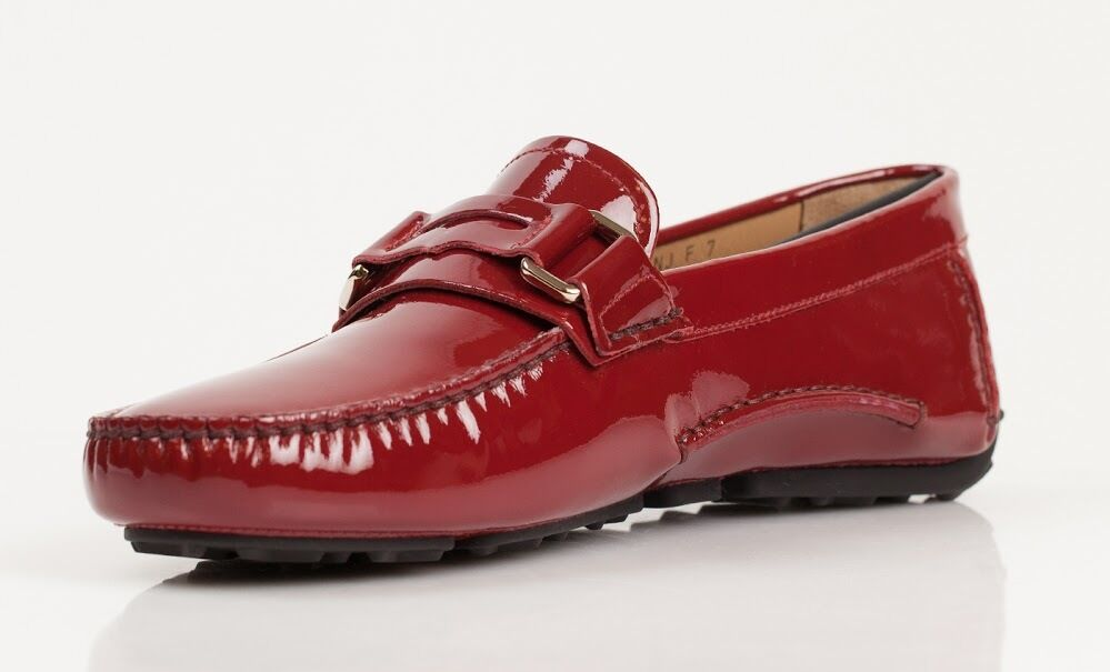 Bally Druh red leather loafers shoes NEW size 6- 10  w box 495
