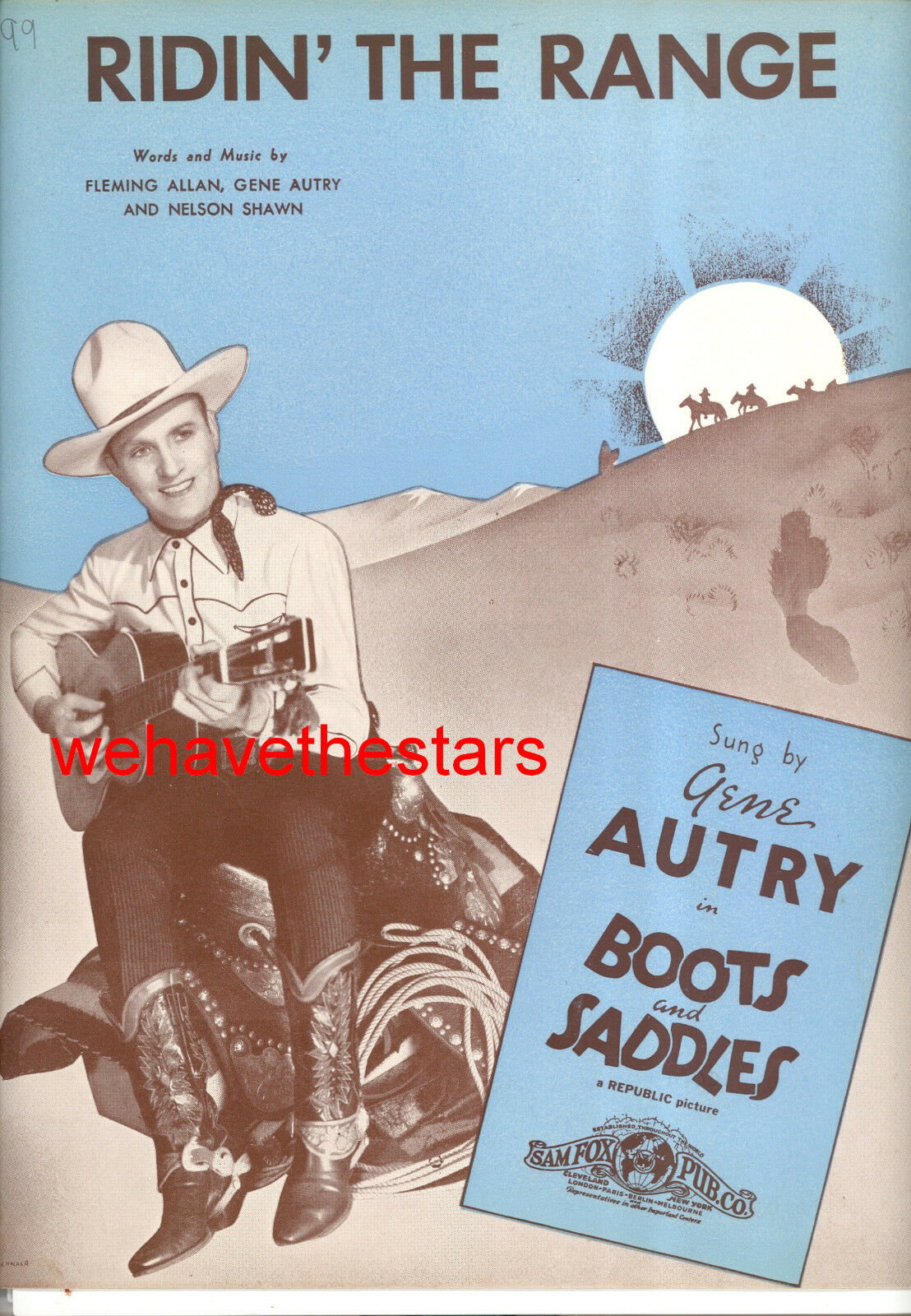 Stiefel AND SADDLES Sheet Music