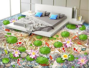 3D purple Lotus 8323  Floor WallPaper Murals Wall Print 5D AJ WALLPAPER UK Lemon