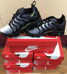 0aca4cb78a820 Nike Air VaporMax Plus Black Volt White 924453 009 Authentic All ...