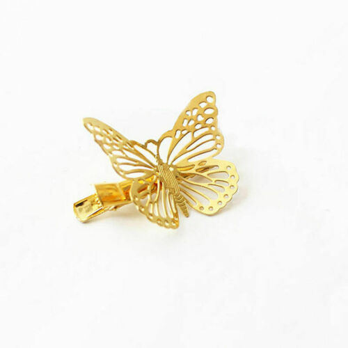 Gold Butterfly Golden Hair PIN Clip Boho Accessories Wedding Gifts UK