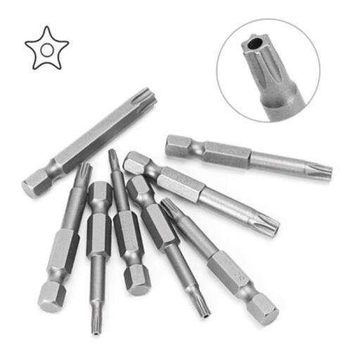 50mm Magnetic Torx Screwdriver Bits Set Electric Driver T8 10 15 20 25 27 30 40