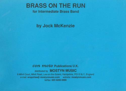 Brass on the Run Brass Band score only Full Score Intermediate Brass Band Joc