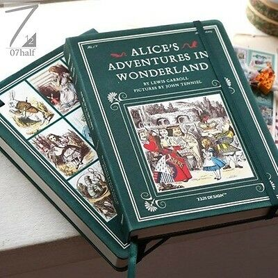 Journal Weekly Planner Alice In Wonderland Diary Vol.19 w/ sticker set ANY Years