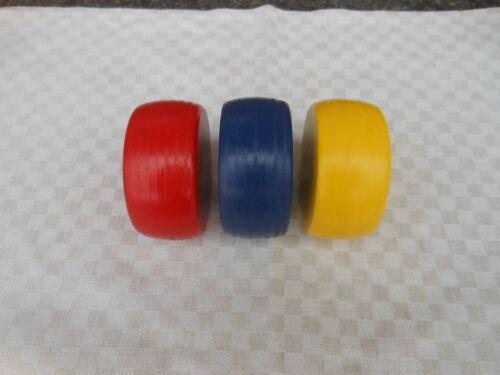 Kloat 3 Kloats mit Bleikern in den Farben Rot,Blau u.Gelb Boßeln Scheiben
