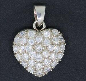 Herz-Anhaenger-925-Sterling-Silber-mit-Zirkonia-Herzanhaenger-Damen-Silberanhaenger