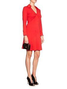 468-Diane-Von-Furstenberg-Dvf-TWIST-Look-2-Wool-Dress-In-Red-Sz-10-M