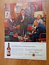 1956 Lord Calvert Whiskey Ad Brown Patterson Friends at Manhattan Club