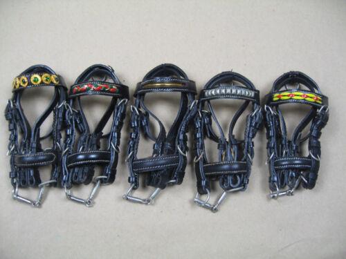 Minitrensen Trensen aus Leder schwarz 5 Stück
