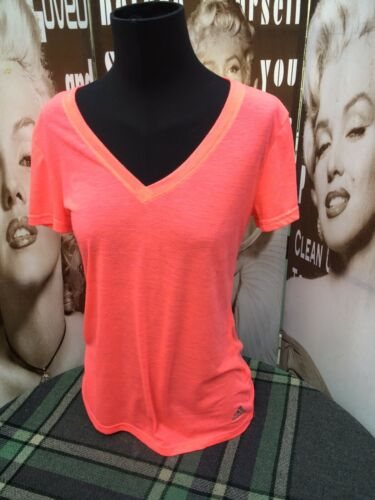 Rose 10 Néon Petite Femme Uk Tee 8 Adidas Réfléchissant Top shirt FKJ35Tlcu1