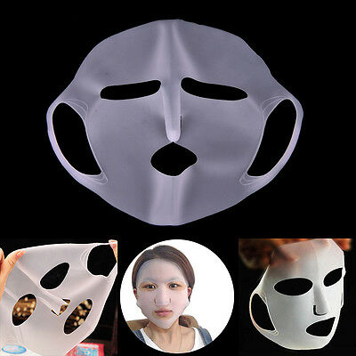 Unisex Reusable Silicone Moisturizing Mask Cover for Sheet Prevent Evaporation A