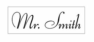 """Personalized """"Your NAME"""" Custom 1 Line Designer Self Inking Rubber stamp - Traxx"""