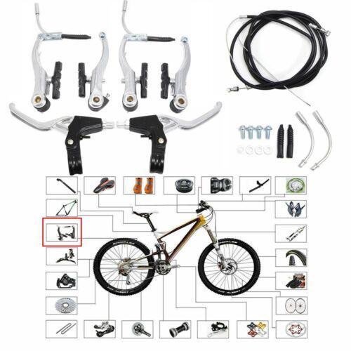 Full Set Bicycle Lightweight V Brake Levers Caliper Mountain Bike For BMX MTB