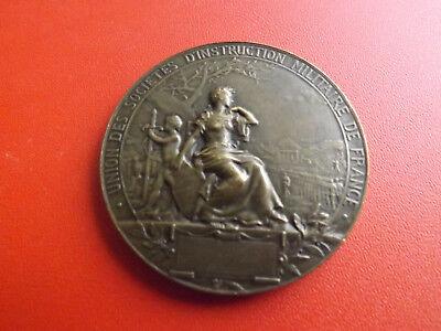 Original Frankreich Bronzemedaille*societes D'instruction Militaire De France/53g.(schu8)