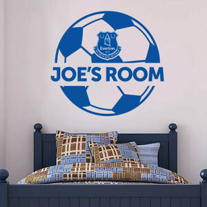 Everton Football Club Personalised Name & Ball Design Wall Mural ...