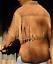 Hommes en Daim Marron Cowboy Western Cuir Chemise à franges