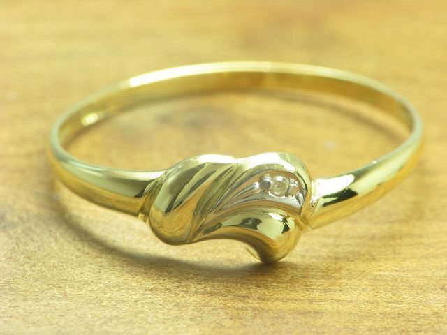 8kt 333 yellowgold Ring mit Diamant Besatz   0,5g   RG 54,5