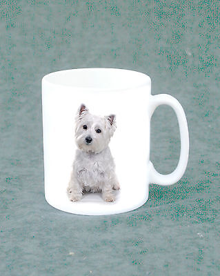 Tea/Coffee Mug - white with Westie/West Highland Terrier Design For Dog Lovers
