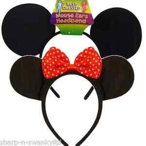Uomo-Donna-Mickey-Minni-CERCHIETTO-ORECCHIE-ACCESSORIO-PER-Costume