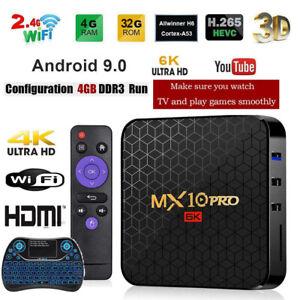 Details about 2019* MX10 Pro 6K TV Box 4GB+32GB Android 9 0 Allwinner H6  Quad Core Set Top Box