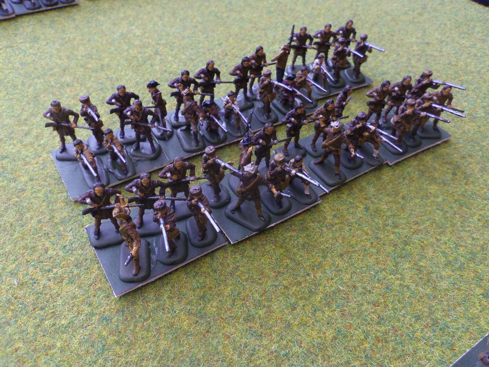 1 72 20mm painted American Revolution AWI Militia   riflemen