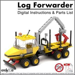 Details about Lego MOC DIGITAL INSTRUCTIONS I Log Forwarder I Classic Town  Forestry Farm City