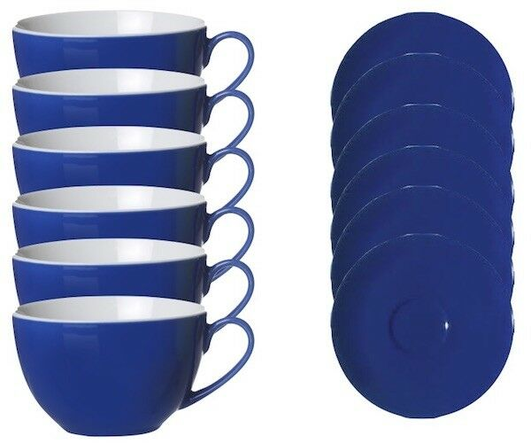 Ritzenhoff & Breker FLIRT Latte Café supérieure et inférieure Tasse Indigo Bleu 12tlg.
