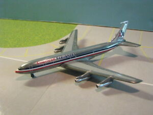 AMERICAN-FREIGHTER-707-320-034-POLISHED-FUSELAGE-034-1-400-SCALE-DIECAST-METAL-MODEL