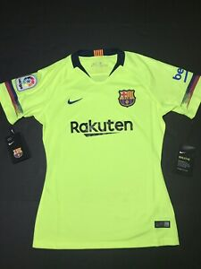 buy online 550bb cf2c6 Details about NWT Nike 2018-2019 FC Barcelona Women Away Jersey -Volt -  Women's Size Small $90