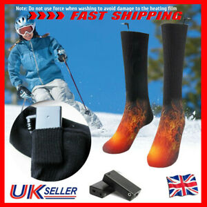 Electric-Heated-Socks-Boot-Feet-Warmer-USB-Rechargable-Battery-Winter-Sport-Sock