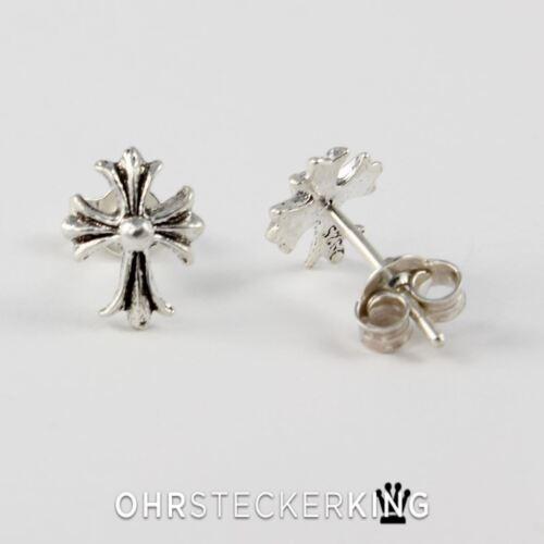 925-Silber Neu Ohrstecker Kreuz Echt Silber