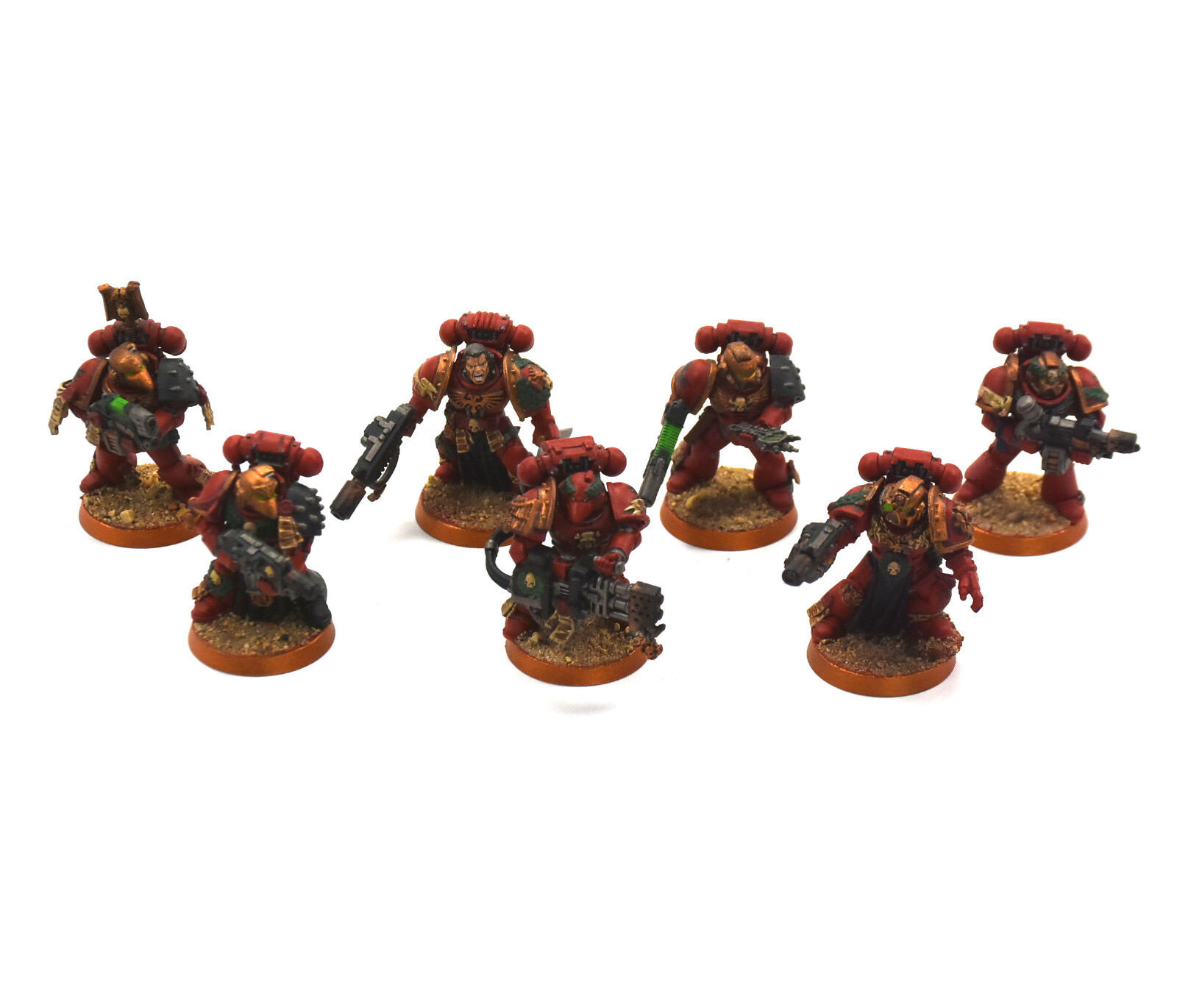 BLOOD ANGELS 7 Sternguard Veteran Squad  2 WELL PAINTED Warhammer 40K