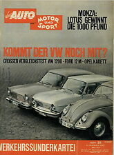 Auto Motor Sport 26 62 1962 Ford 12M VW Käfer Kafer Opel Kadett A DKW Vemag