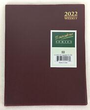 2022 Weekly Day Planner Calendar Organizer Agenda Appointments Burgundy 8x10