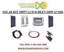 Solar Panel KIT Panneau Solaire 200W 200 W Watt (2 * 100 W) 20A MPPT Poly 12V RV