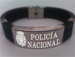 CNP Pulseras caucho de la Policía Nacional