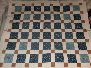Lap Throw Nursery Bedding Beige Blue
