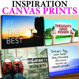 Details about INSPIRATION QUOTES CANVAS , MANY STYLES AVAILABLE , FREE UK  P\u0026P