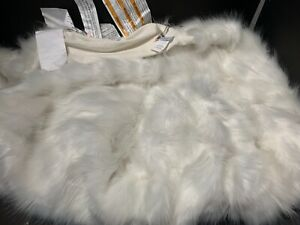 Pottery Barn Kids Monique Lhullier Ivory Fur Beanbag