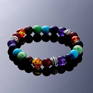 7-Chakra-Healing-Beaded-Bracelet-Natural-Lava-Stone-Diffuser-Stretch-Jewellery