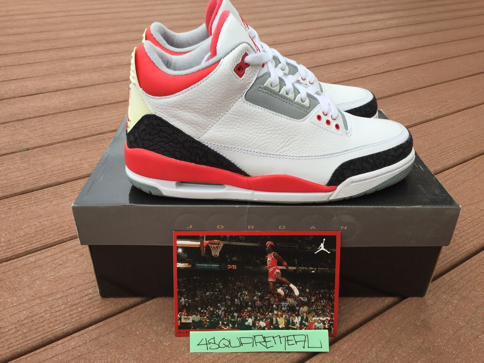 Nike Air Jordan Retro III 3 White Fire Red Black Cement Free Throw Line Tinker Special limited time