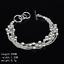 Women-925-Silver-Plated-Beads-Charm-Pendant-Bangle-Chain-Bracelet-Wristband-Gift thumbnail 34